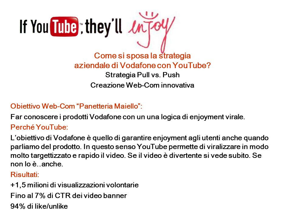 Come si sposa la strategia aziendale di Vodafone con YouTube