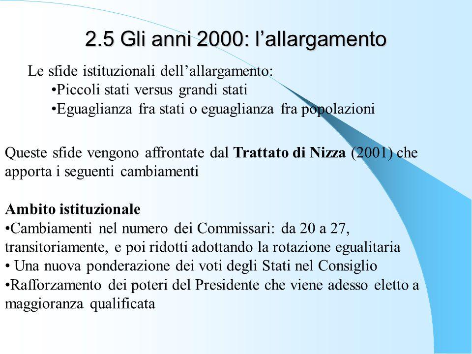 2.5 Gli anni 2000: l'allargamento