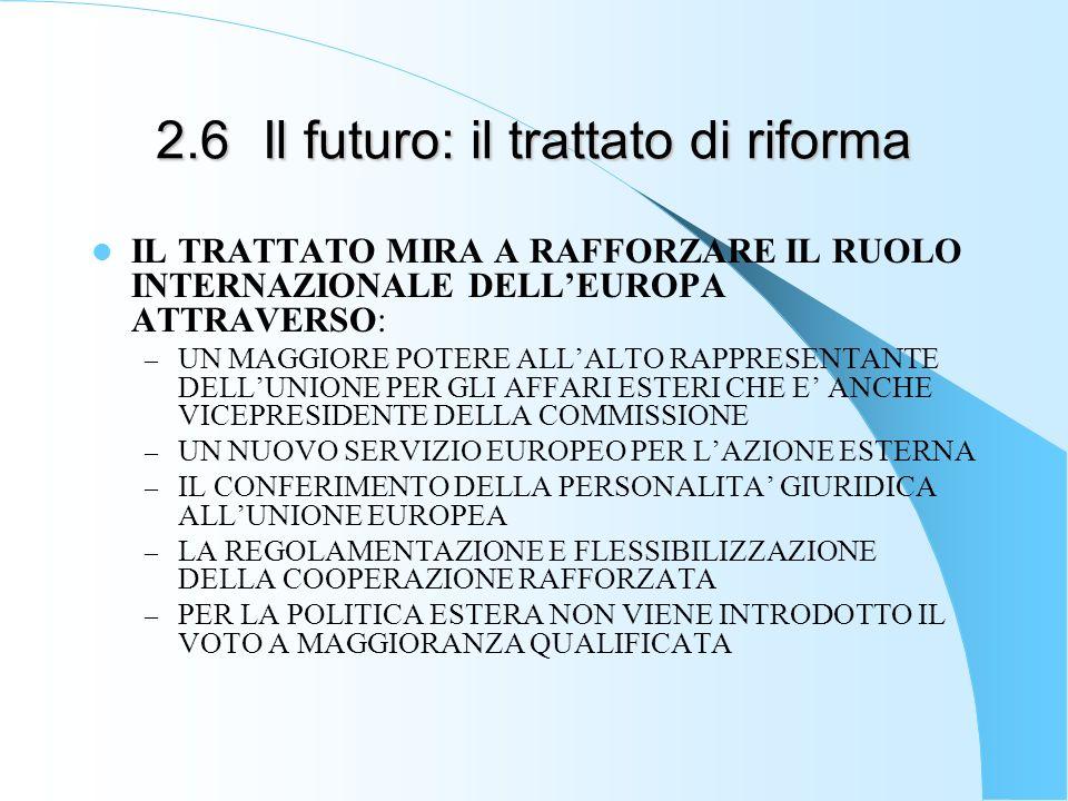 2.6 Il futuro: il trattato di riforma