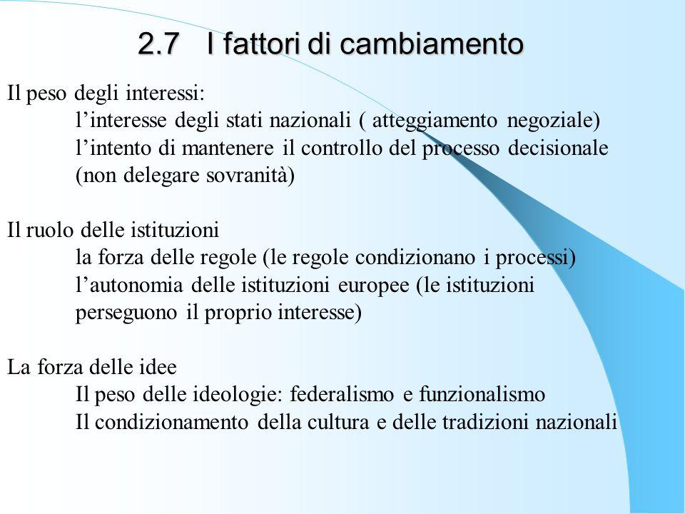 2.7 I fattori di cambiamento