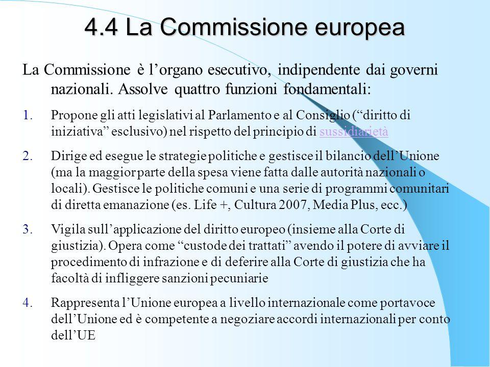 4.4 La Commissione europea