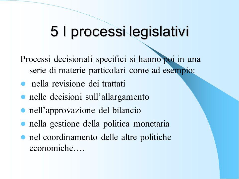 5 I processi legislativi