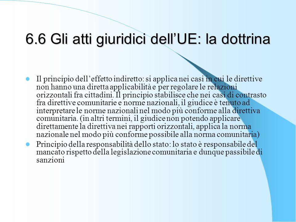 6.6 Gli atti giuridici dell'UE: la dottrina