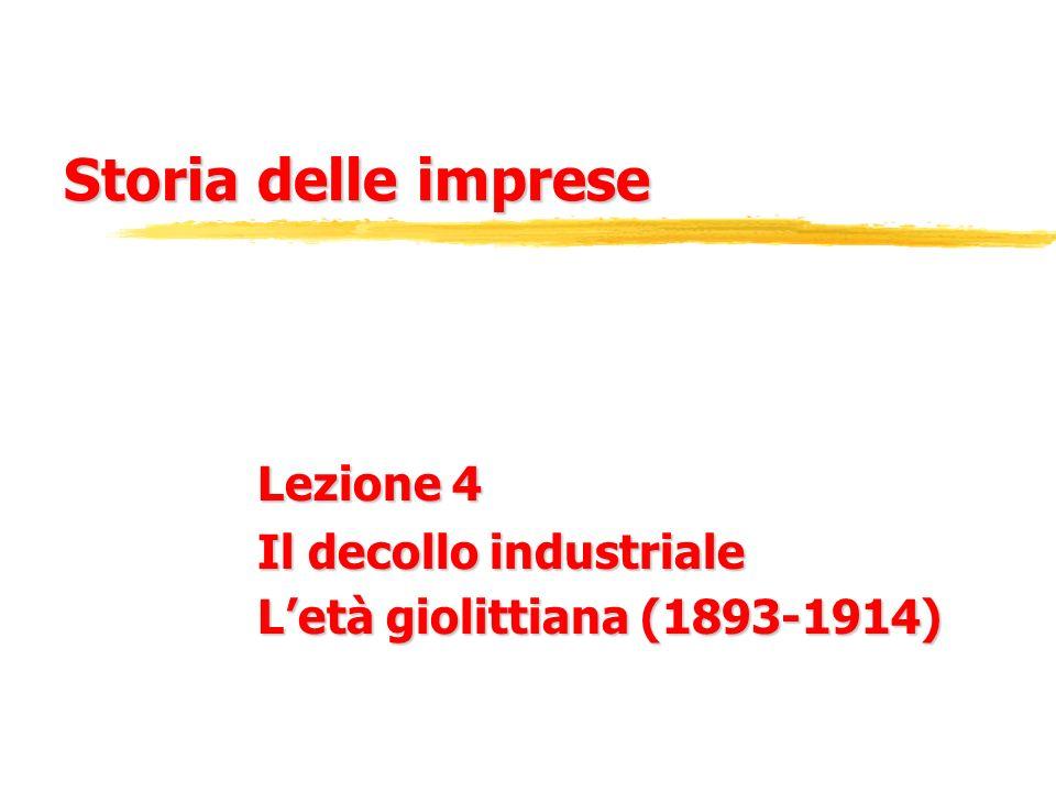 Lezione 4 Il decollo industriale L'età giolittiana (1893-1914)