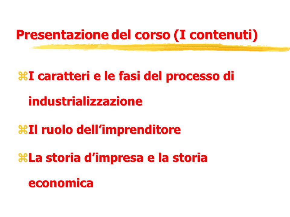 Presentazione del corso (I contenuti)