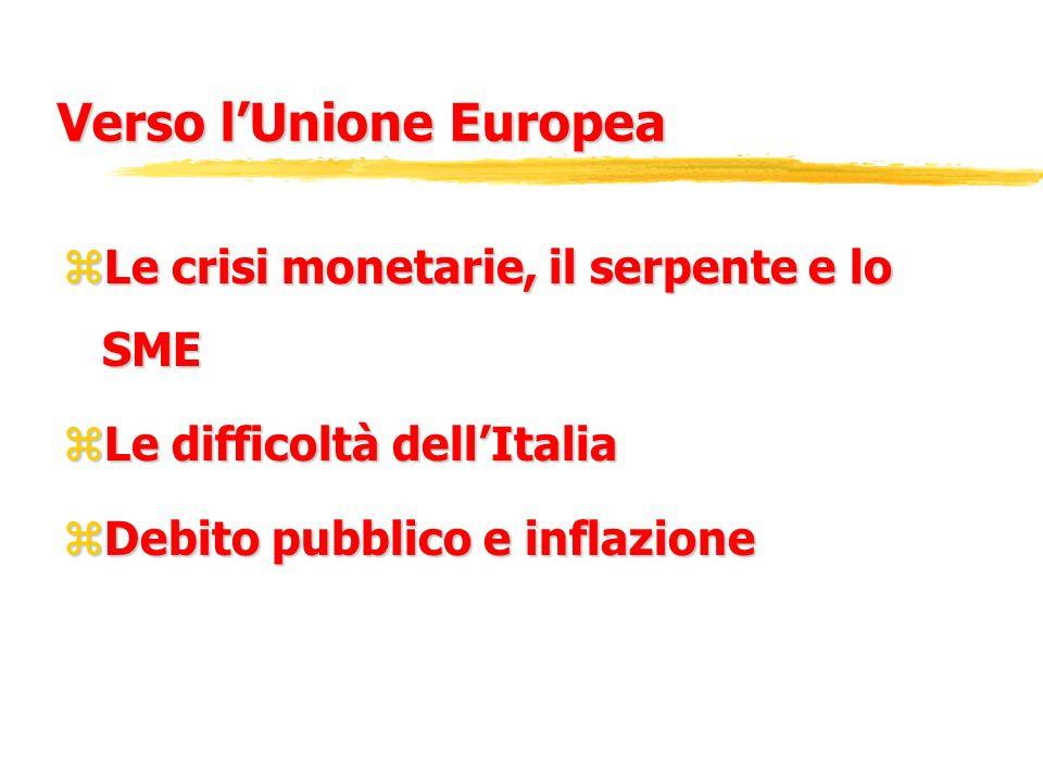 Verso l'Unione Europea