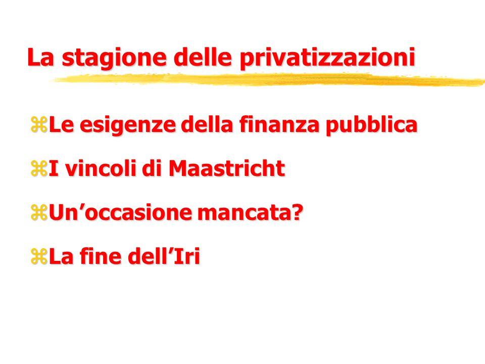 La stagione delle privatizzazioni