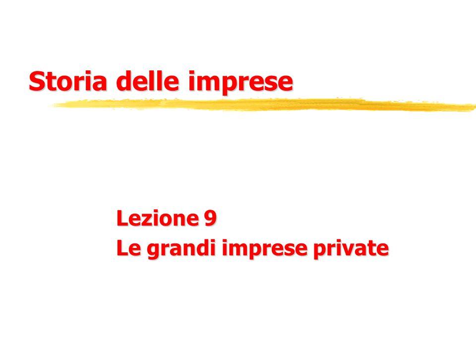 Lezione 9 Le grandi imprese private
