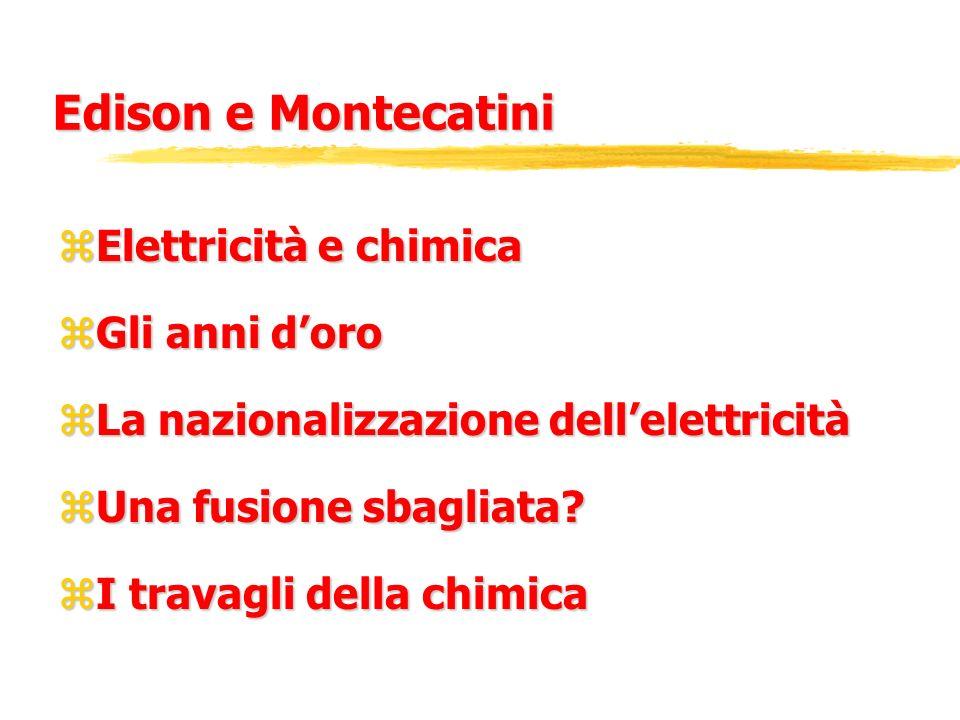 Edison e Montecatini Elettricità e chimica Gli anni d'oro