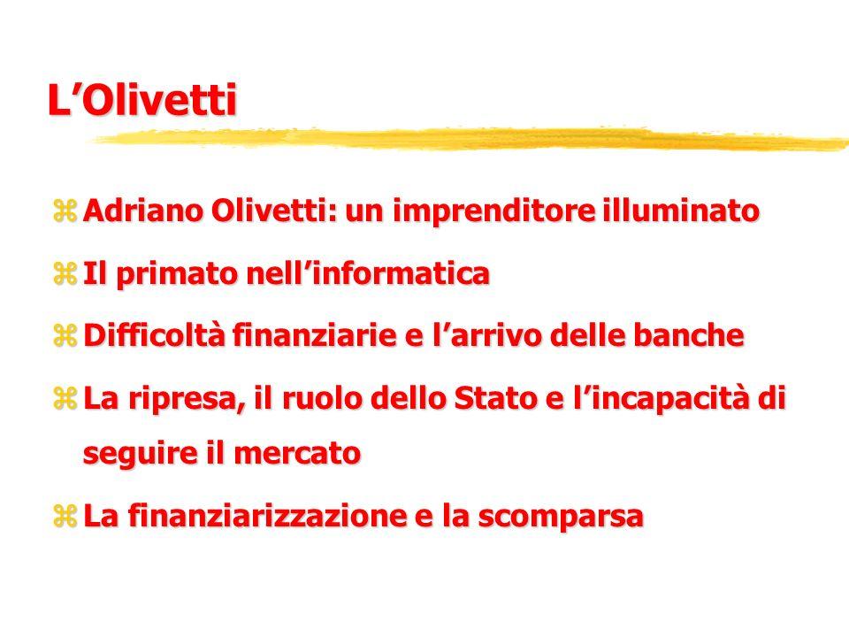 L'Olivetti Adriano Olivetti: un imprenditore illuminato