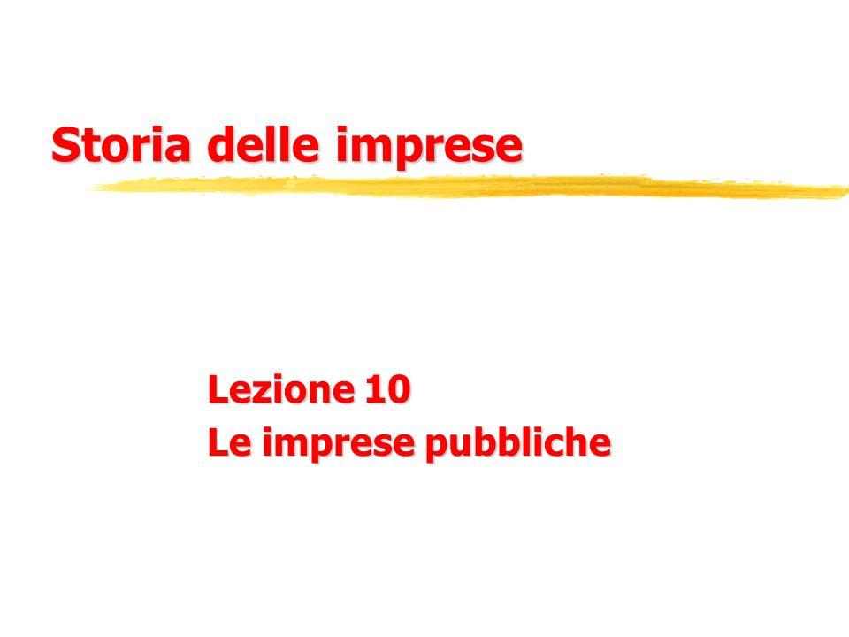 Lezione 10 Le imprese pubbliche