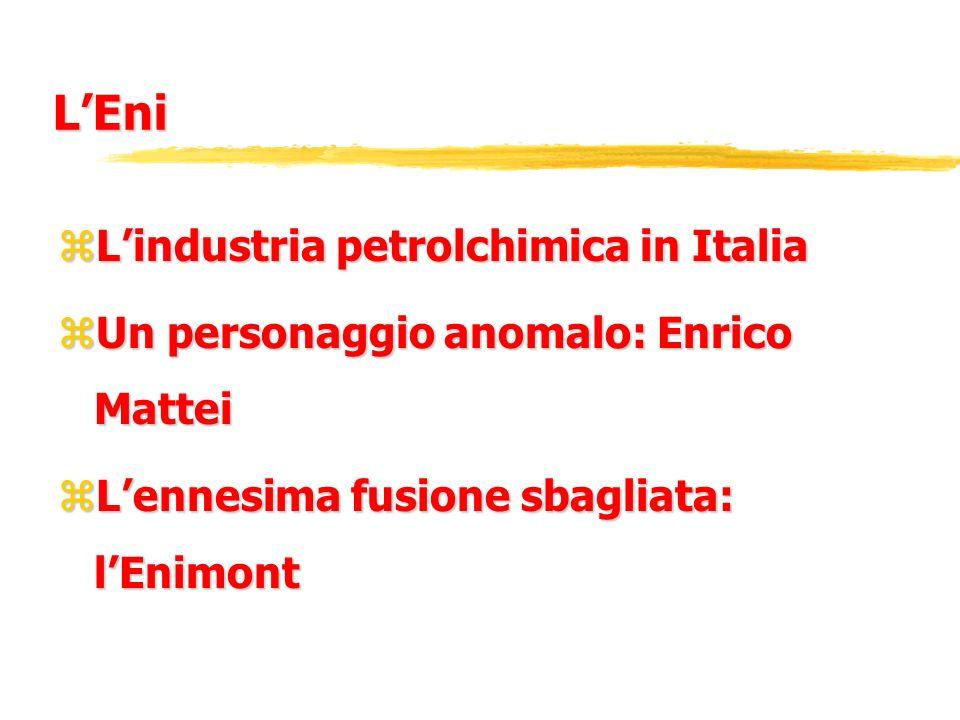 L'Eni L'industria petrolchimica in Italia