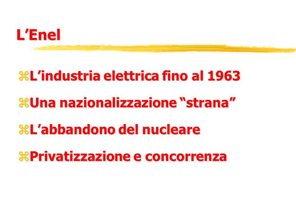 L'Enel L'industria elettrica fino al 1963