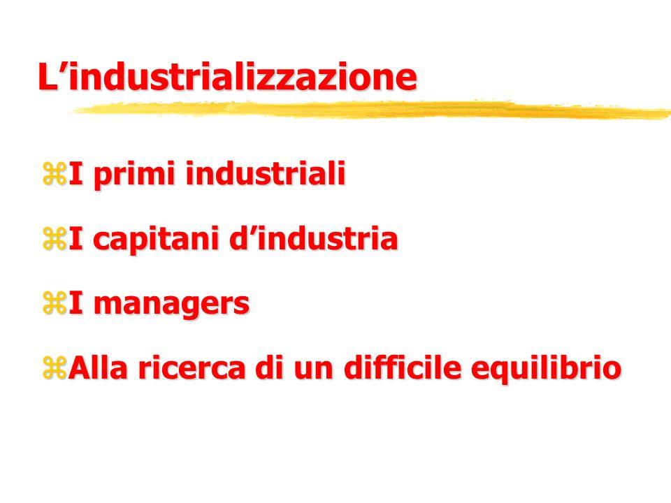 L'industrializzazione
