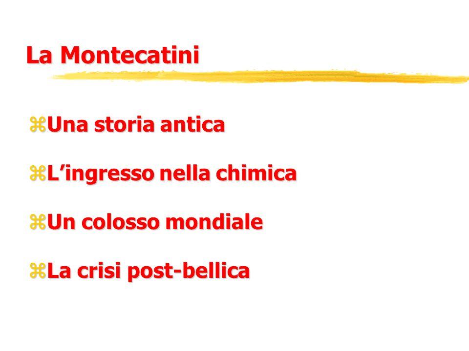 La Montecatini Una storia antica L'ingresso nella chimica