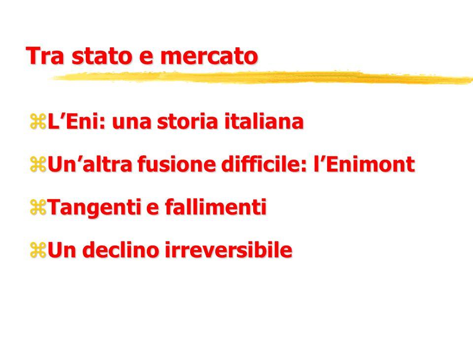 Tra stato e mercato L'Eni: una storia italiana