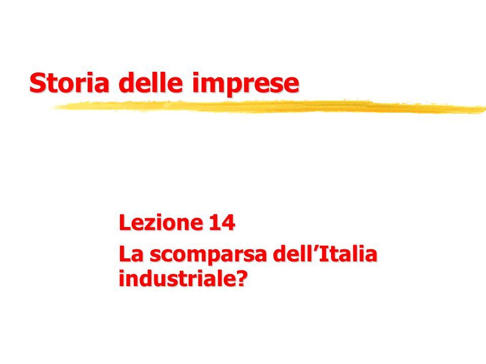 Lezione 14 La scomparsa dell'Italia industriale