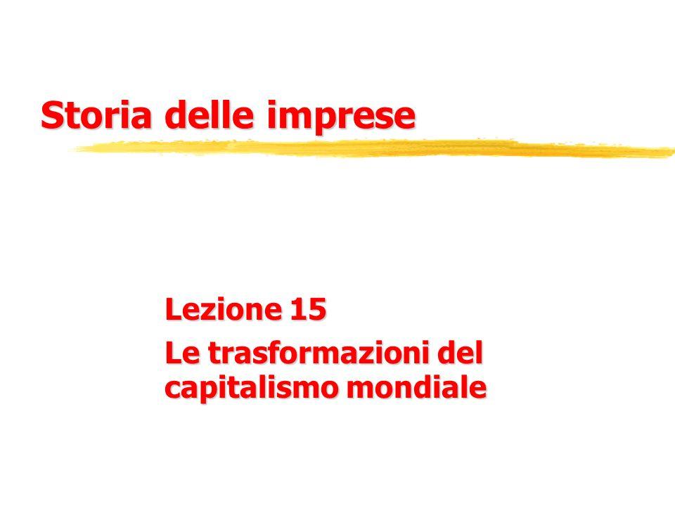 Lezione 15 Le trasformazioni del capitalismo mondiale