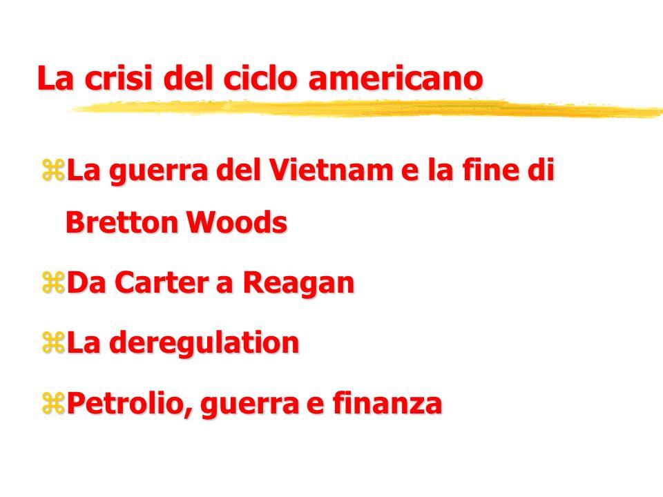 La crisi del ciclo americano