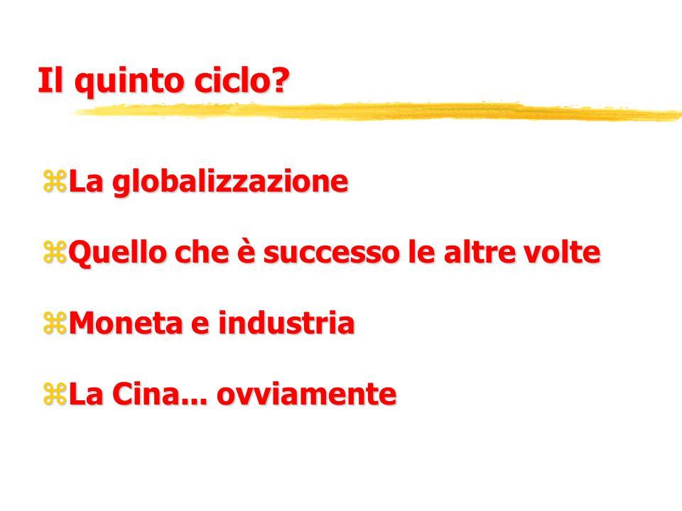Il quinto ciclo La globalizzazione
