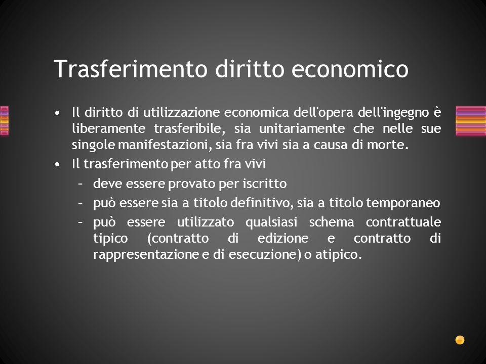 Trasferimento diritto economico