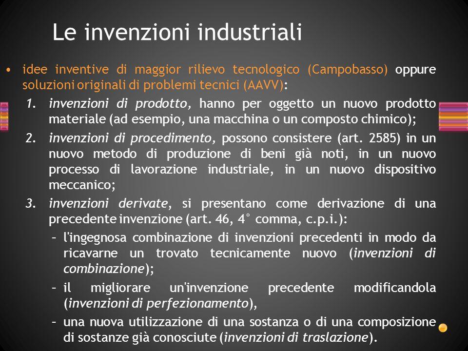 Le invenzioni industriali