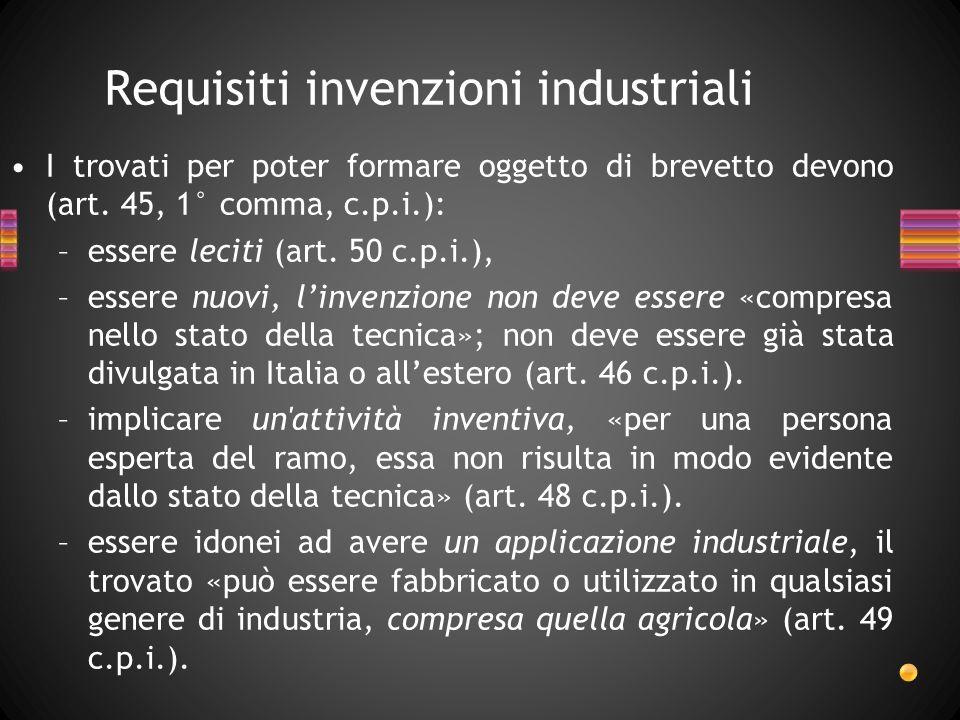 Requisiti invenzioni industriali
