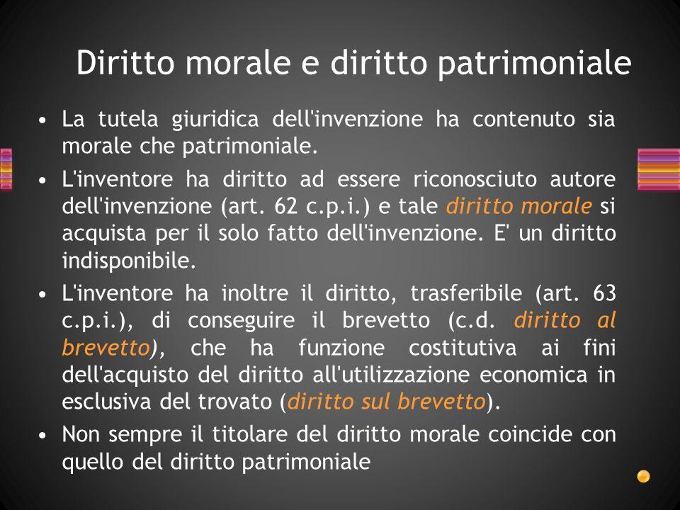 Diritto morale e diritto patrimoniale