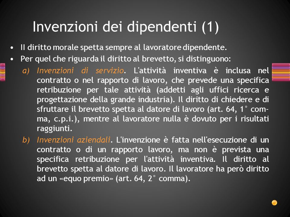 Invenzioni dei dipendenti (1)