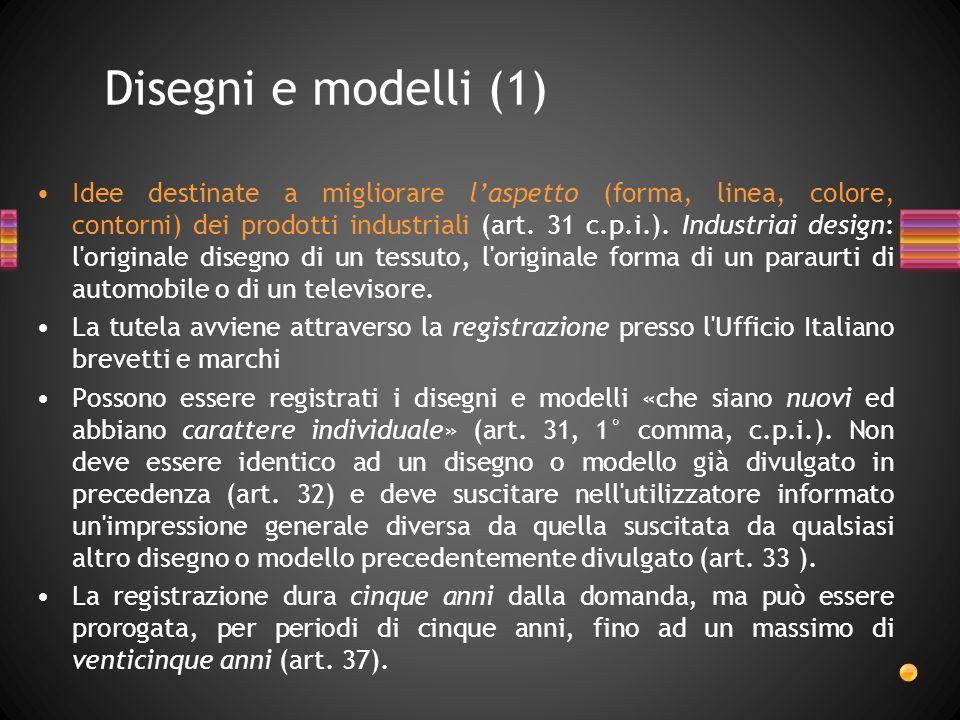 Disegni e modelli (1)