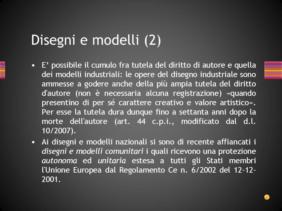 Disegni e modelli (2)