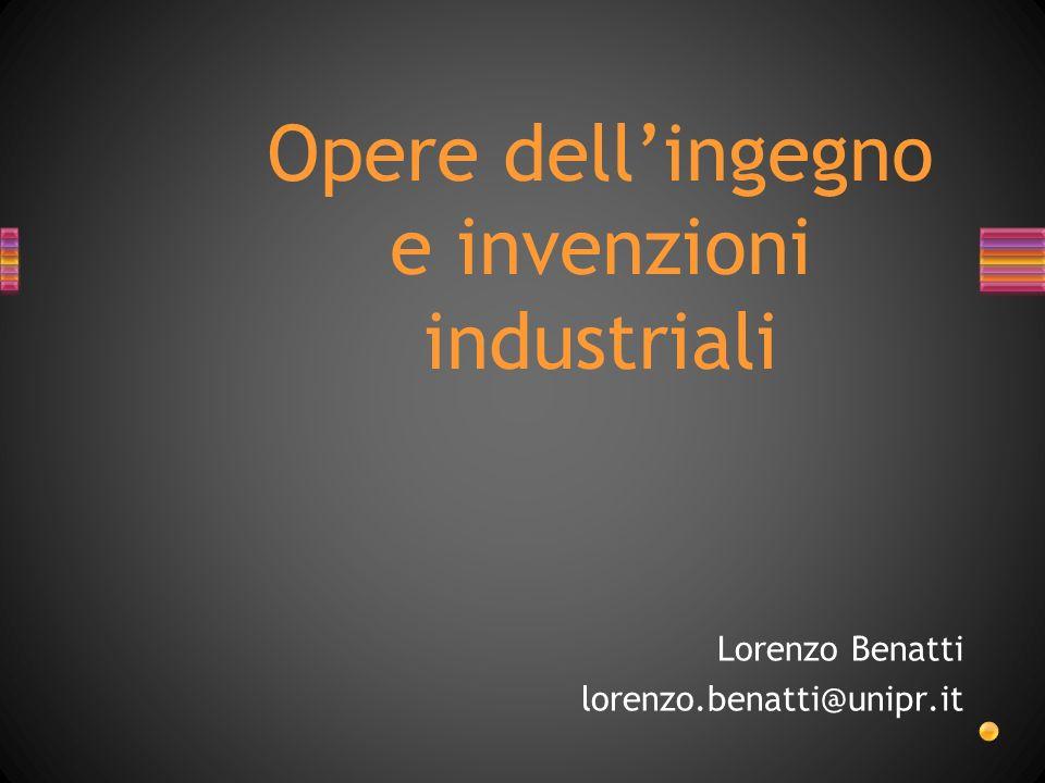 Opere dell'ingegno e invenzioni industriali