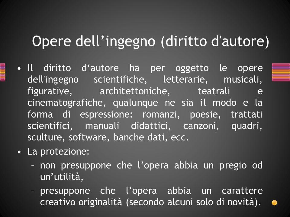 Opere dell'ingegno (diritto d autore)
