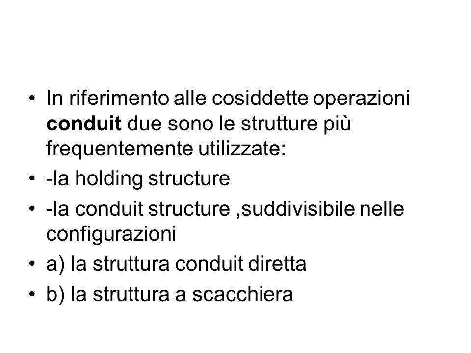 In riferimento alle cosiddette operazioni conduit due sono le strutture più frequentemente utilizzate:
