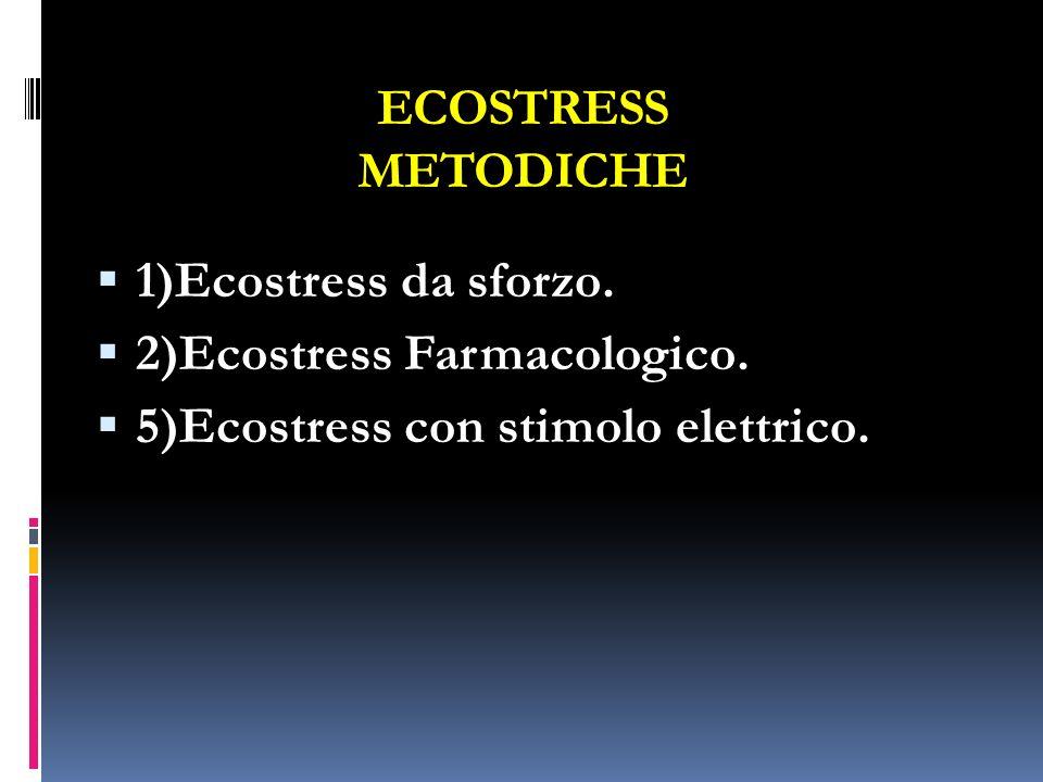 ECOSTRESS METODICHE 1)Ecostress da sforzo. 2)Ecostress Farmacologico.