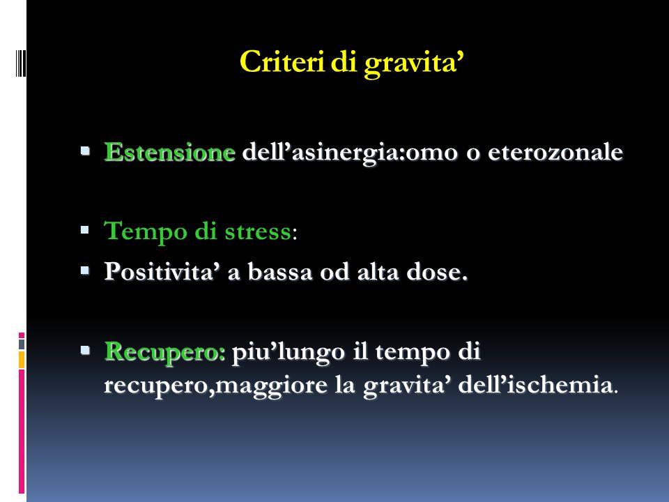 Criteri di gravita' Estensione dell'asinergia:omo o eterozonale