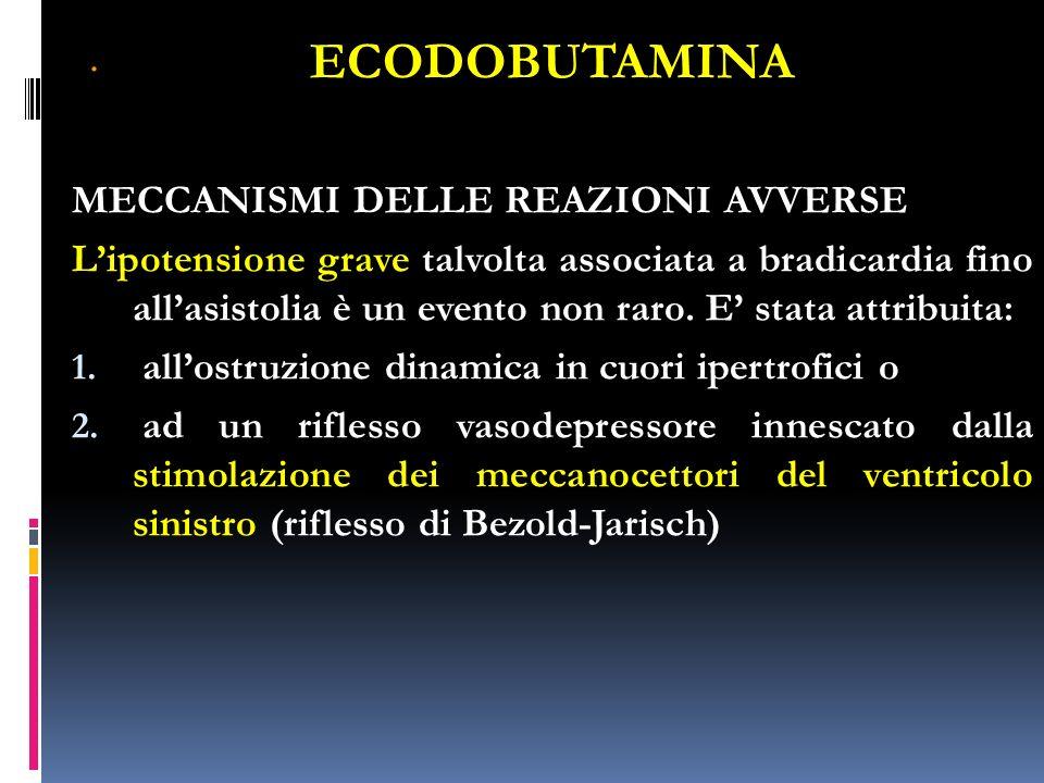 ECODOBUTAMINA . MECCANISMI DELLE REAZIONI AVVERSE
