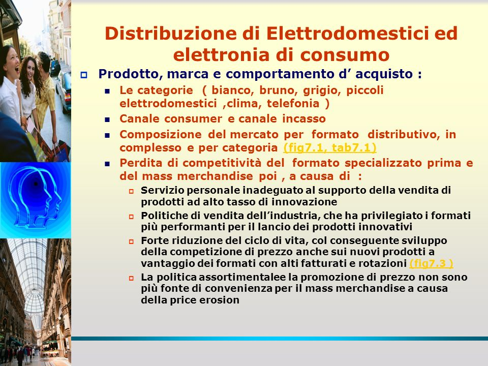 Distribuzione di Elettrodomestici ed elettronia di consumo