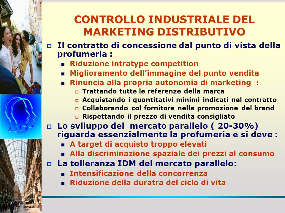 CONTROLLO INDUSTRIALE DEL MARKETING DISTRIBUTIVO