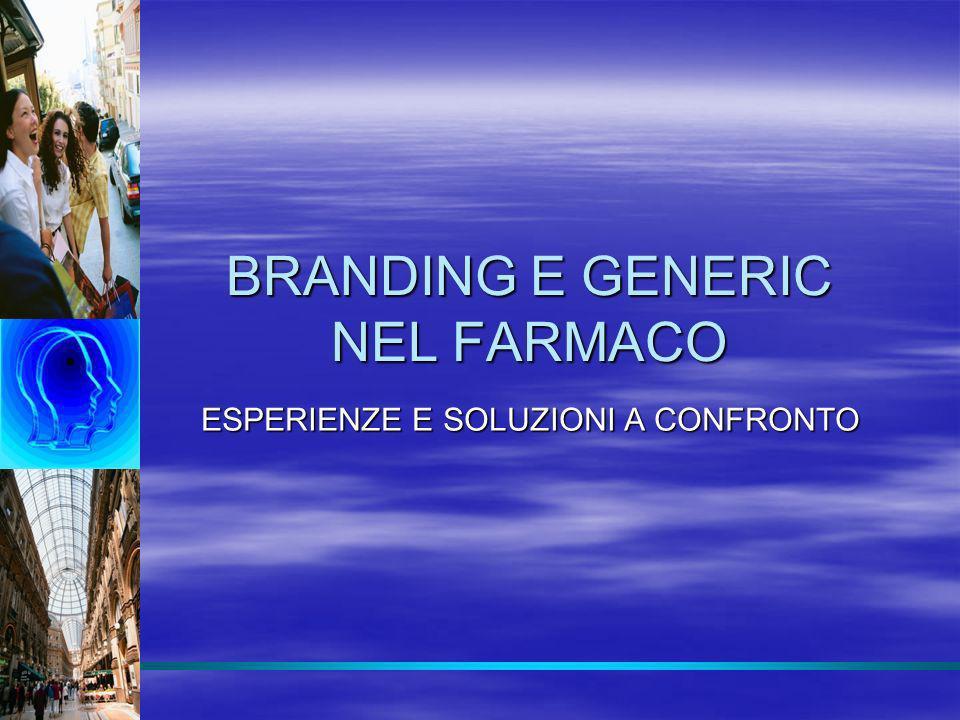 BRANDING E GENERIC NEL FARMACO