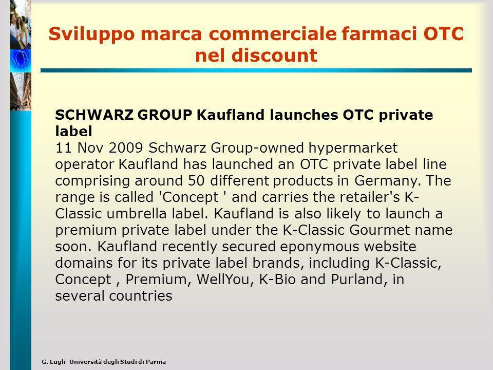 Sviluppo marca commerciale farmaci OTC nel discount