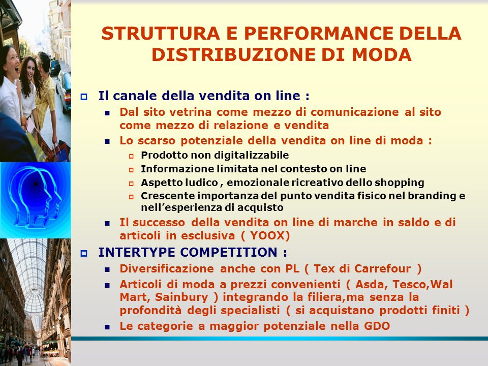 STRUTTURA E PERFORMANCE DELLA DISTRIBUZIONE DI MODA