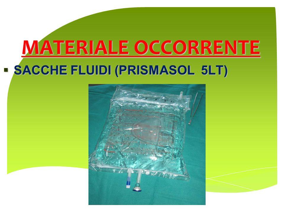MATERIALE OCCORRENTE SACCHE FLUIDI (PRISMASOL 5LT)