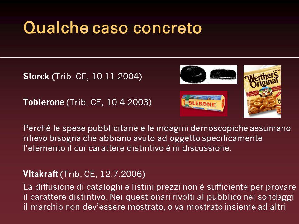 Qualche caso concreto Storck (Trib. CE, 10.11.2004)