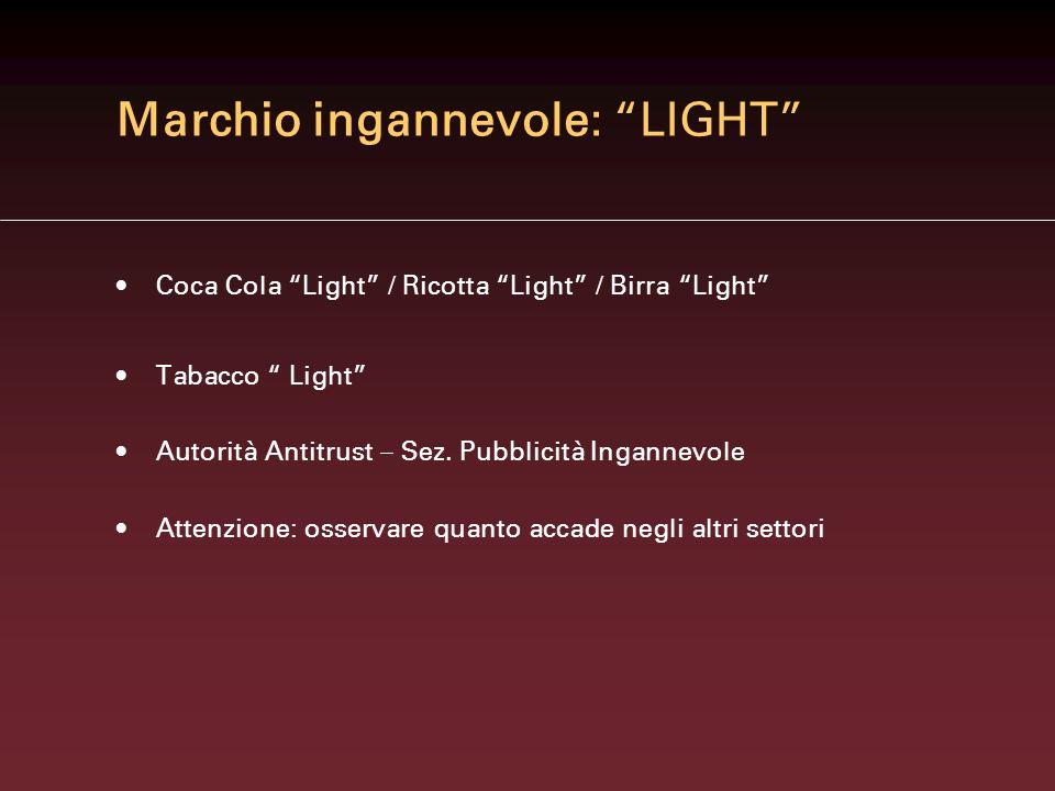 Marchio ingannevole: LIGHT