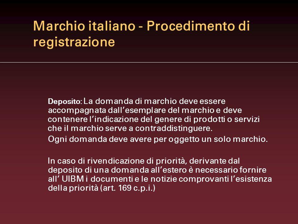 Marchio italiano - Procedimento di registrazione