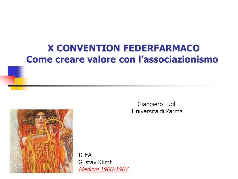 X CONVENTION FEDERFARMACO Come creare valore con l'associazionismo