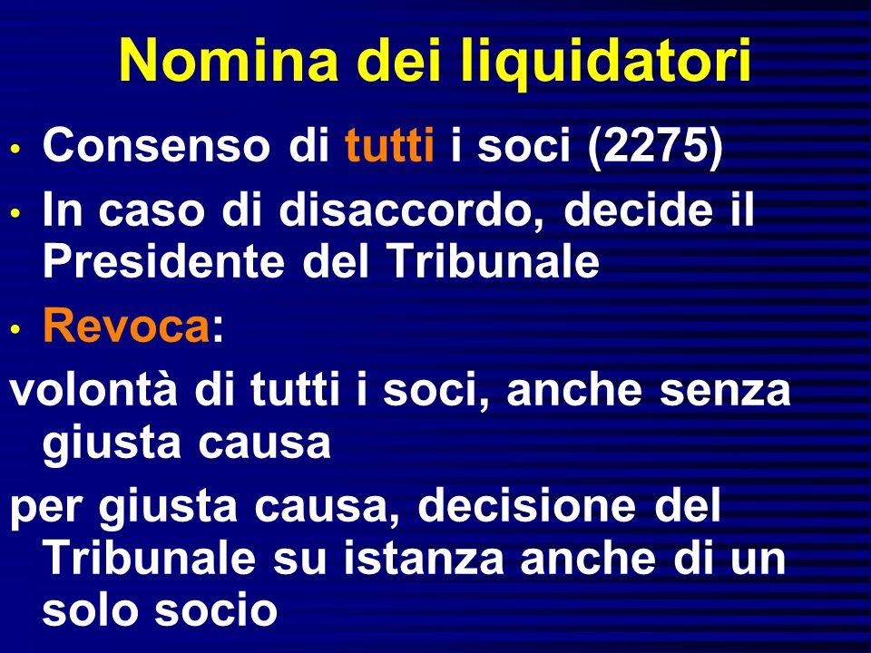 Nomina dei liquidatori