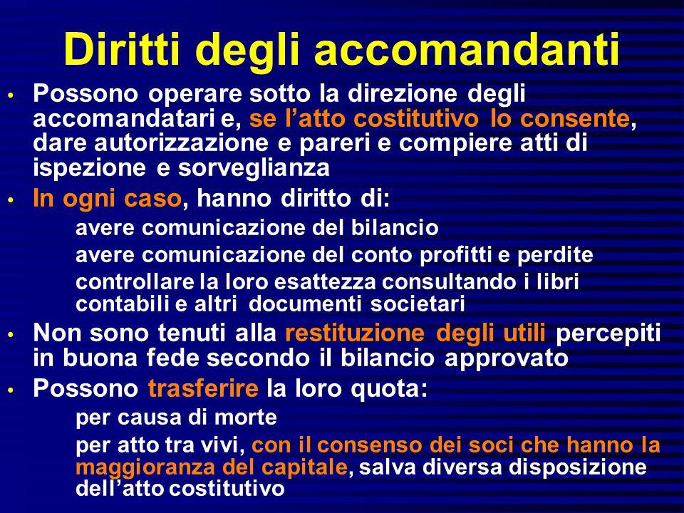 Diritti degli accomandanti