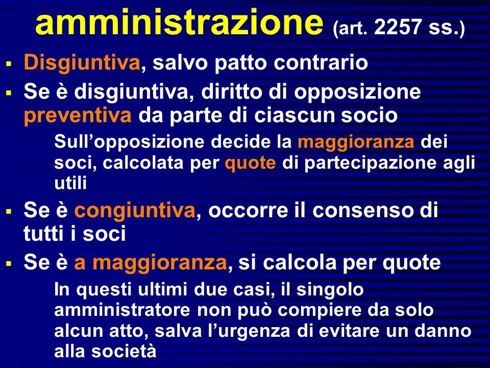 amministrazione (art. 2257 ss.)